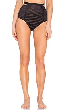 Lonely Lulu Highwaisted Brief in Black
