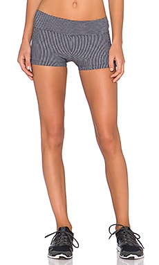 Lorna Jane Chantelle Short in Black & Mid Grey Marle