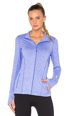 Rally Active Zip Up Jacket in Jacaranda Marl