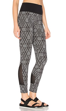 Dahlia Core Ankle Tight in Charcoal Marl