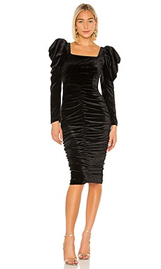 lORANE Velvet Midi Dress IORANE $243