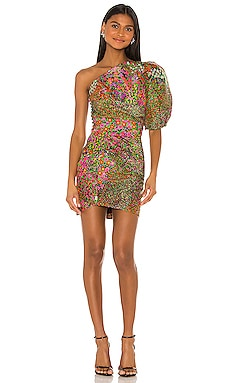 Floral One Shoulder Mini Dress IORANE $695 NEW ARRIVAL