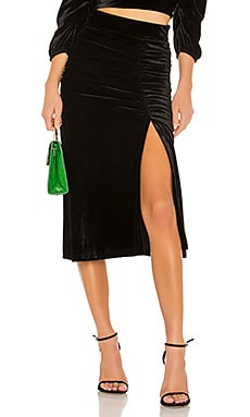 lORANE Velvet Midi Skirt IORANE $157 Collections