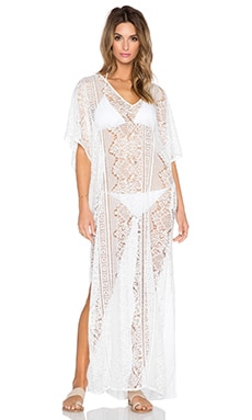 Le Salty Label Island Luxe Caftan in White