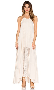 Le Salty Label Bronte Lace Detail Maxi in Nude