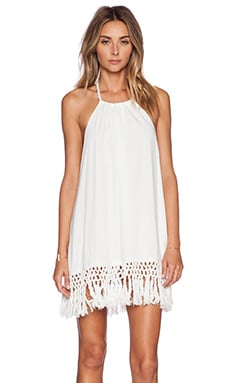 Le Salty Label Malibu Tassel Dress in White