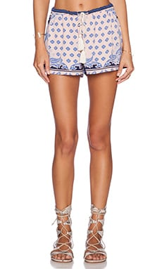 Le Salty Label Gypsy Short in Pastel Paisley
