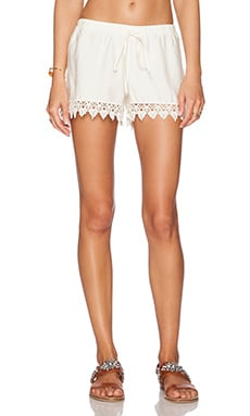 Le Salty Label Barley Crochet Short in Cream