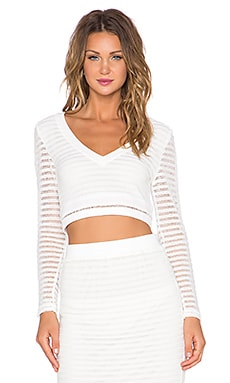 Le Salty Label Gigi Crop Sweater in White