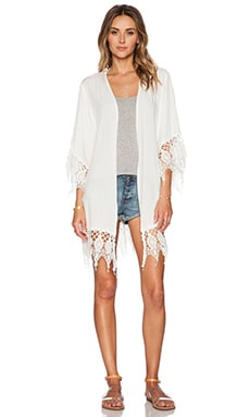 Le Salty Label Willow Robe in White