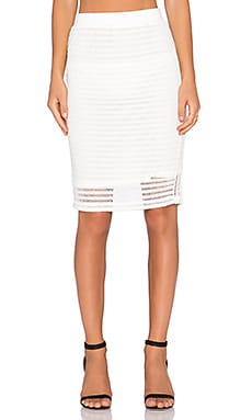 Le Salty Label Gigi Midi Skirt in White