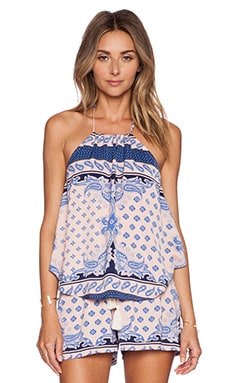 Le Salty Label Gypsy Halter Cami in Pastel Paisley