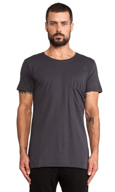 lot78 Modal Jersey Tee in Anthracite