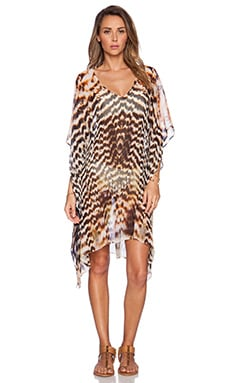 Lotta Stensson Mid Thigh Poncho in Gold Feather