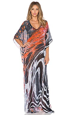 Lotta Stensson Hot Lava Maxi Poncho in Hot Lava