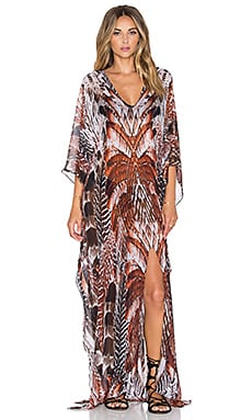 Lotta Stensson Slit Maxi Kaftan in Natural Feather