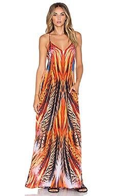 Lotta Stensson Maxi Pocket Dress in Feather Burst