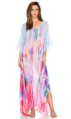 Lotta Stensson Maxi Poncho in Pastel Feather Chiffon