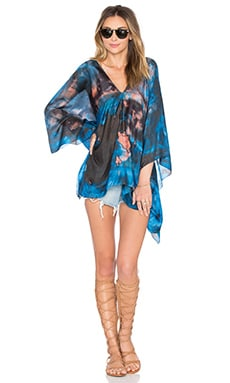 Lotta Stensson Mother Earth Poncho Top in Tropical Storm
