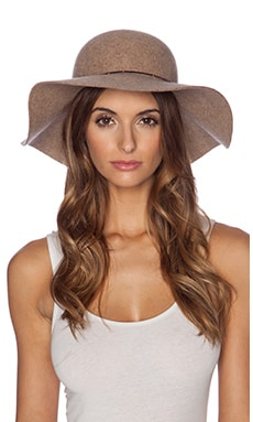 Lovely Bird Biarritz White Tibetan Wrap Hat in Sand