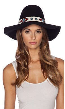 Lovely Bird Buenos Aries Navajo Wrap Hat in Black