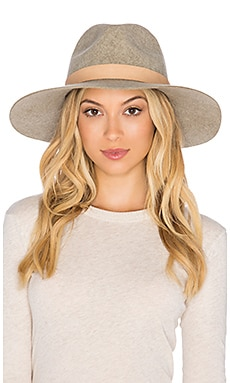 Lovely Bird Buenos Aires Natural Leather Wrap Hat in Sand