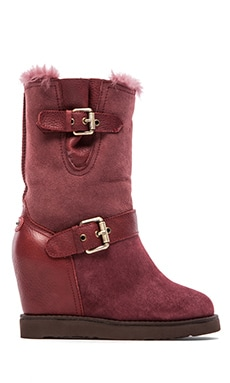 Machina Wedge Boot in Oxblood