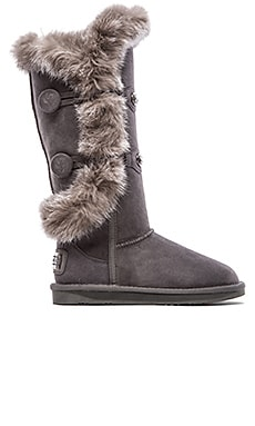 Australia Luxe Collective Nordic Angel Extra Tall with Rabbit Fur Trim in Gray