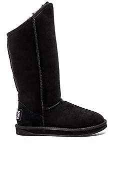 Cosy Tall Boot with Sheep Shearling en Negro