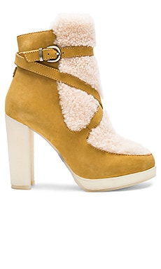 Mercy Shearling Heels in Tobacco