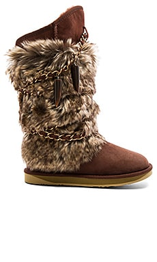 Atilla Boot with Faux Fur
