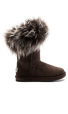 Foxy Short Shearling Boot in Espresso