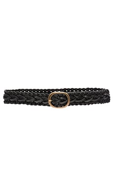 Lovers + Friends Winslow Braided Belt in Black