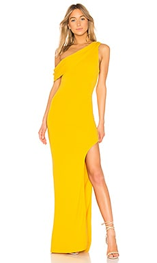 VESTIDO LARGO UN HOMBRO MARIGOLD Lovers + Friends $198