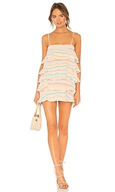 Купить Присборенное платье мини liv - Lovers + Friends, Мини, Индия, Желтый