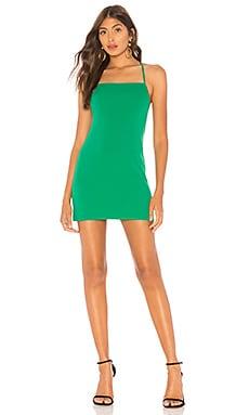 Фото - Облегающее мини-платье asha - Lovers + Friends зеленого цвета