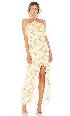 Купить Вечернее платье холтер oorja - Lovers + Friends белого цвета