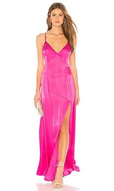 Купить Макси платье avery - Lovers + Friends розового цвета