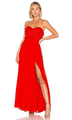Купить Вечернее платье без бретелек theo - Lovers + Friends красного цвета