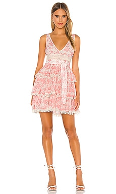 Peach Mini Dress Lovers + Friends $126