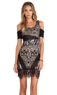Right Now Bodycon Dress in Black