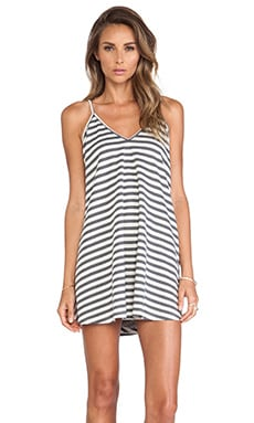 Lovers + Friends Ocean Day Dress in Heather Grey Stripe