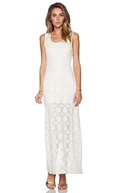 Lovers + Friends Gemma Crochet Maxi Dress in Ivory