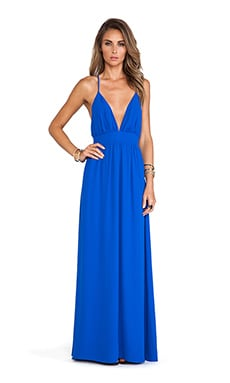 Lovers + Friends Good As Gold Maxi Dress in Cobalt
