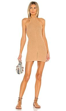 Equator Crochet Halter Dress Lovers + Friends $198 NEW