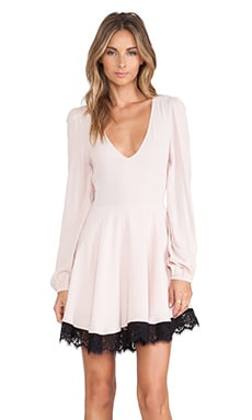 Lovers + Friends Shimmy Dress in Powder Pink
