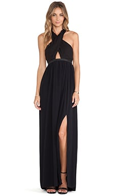 Lovers + Friends Flashback Maxi Dress in Black
