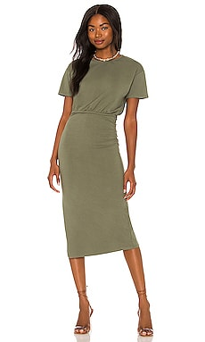 Easy Ruched Midi Dress Lovers and Friends $178