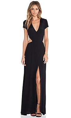 Lovers + Friends Harper Maxi Dress in Black