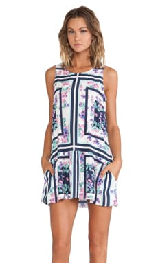 Lovers + Friends I Heart Babydoll Dress in Floral Scarf Print